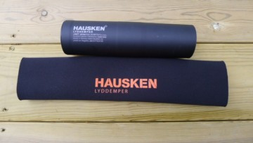 Hausken Neopren trekk for demper, Sort.